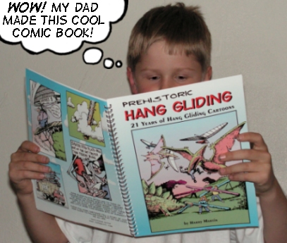 Prehistoric Hang Gliding Book by Harry Martin
